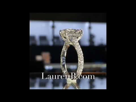 3.74 ct Radiant Cut Diamond Engagement Ring