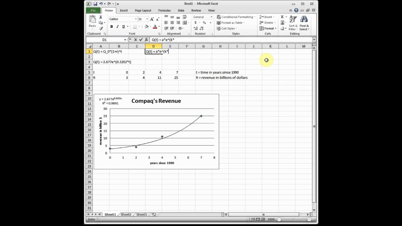 Graph An Exponential Equation In Excel