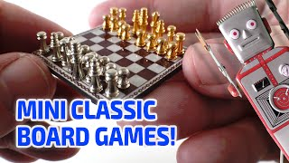 TINY WORKING CLASSIC BOARD GAMES! – Mini Chess, Checkers and Backgammon that really work!