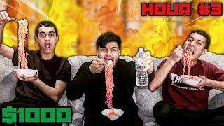 Last To Drink Water After Eating The Worlds Spiciest Noodles Wins $1000 - Challenge
