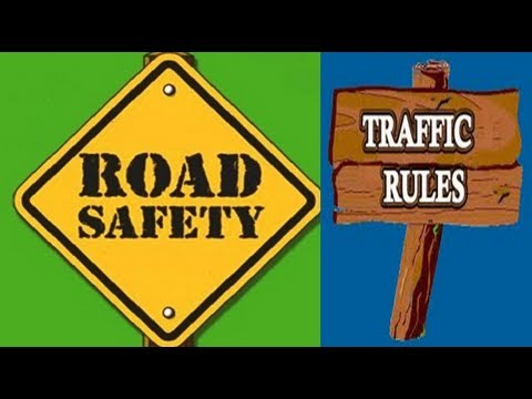 Road Safety Traffic Rules Video For Kids Youtube