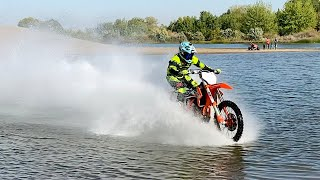 Dirt Bike Rides On WATER - Buttery Vlogs Ep67