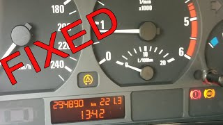 BMW E46 ABS ASC handbrake light on FIX (broken sensor replacement)