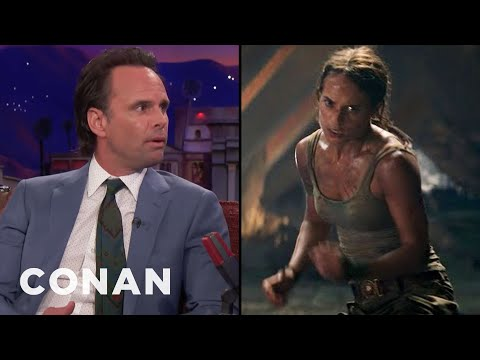 Walton Goggins Was Physically Intimidated By Alicia Vikander   CONAN on TBS