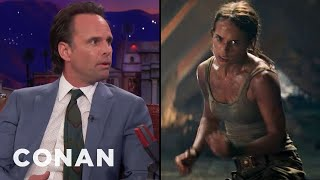 Walton Goggins Was Physically Intimidated By Alicia Vikander  - CONAN on TBS
