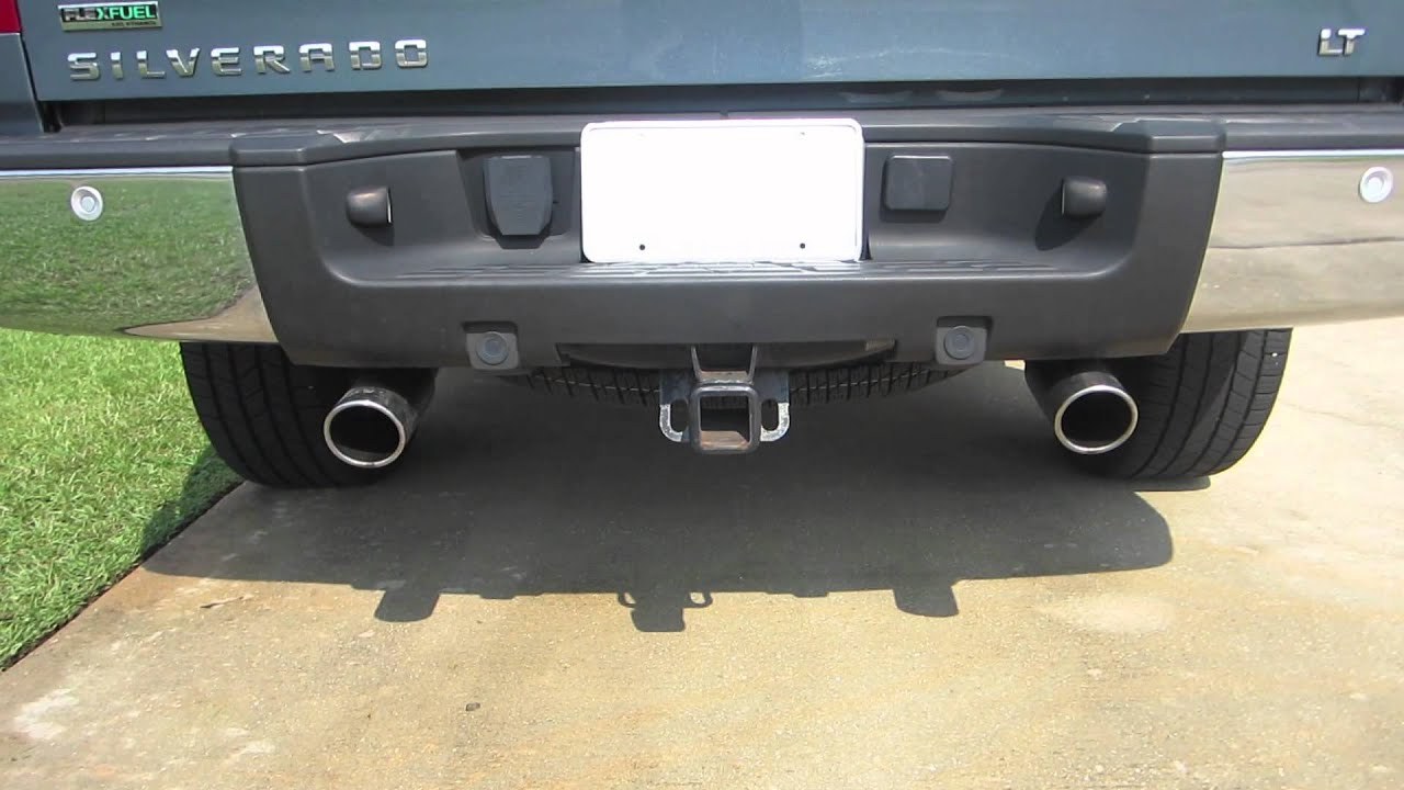 Mbrp Exhaust Tips >> MBRP Dual Exhaust 2010 SIlverado 5.3L V8 - YouTube