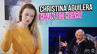 Vocal Coach Reacts to Christina Aguilera - Haunted Heart