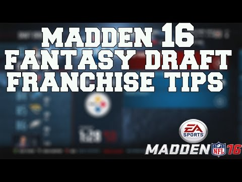 Madden 16 Fantasy Draft Franchise: HOW TO DRAFT AN AMAZING TEAM!!!