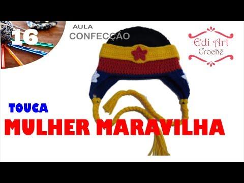 734166f40bb82 Gorro Touca Mulher Maravilha