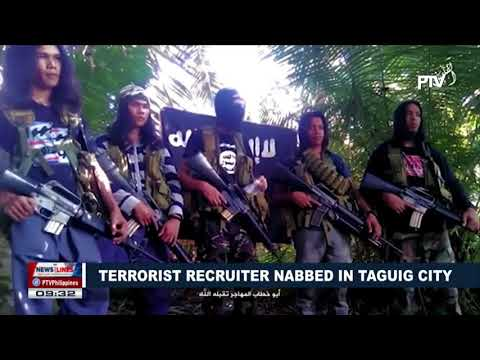 Terrorist recruiter nabbed in Taguig City