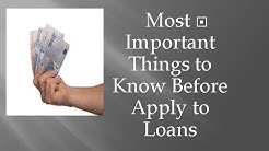 Loans. How to Select a good one