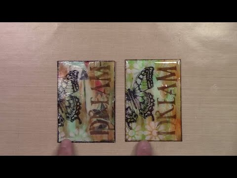How to Create a Glass Effect Artist Trading Card - Dream