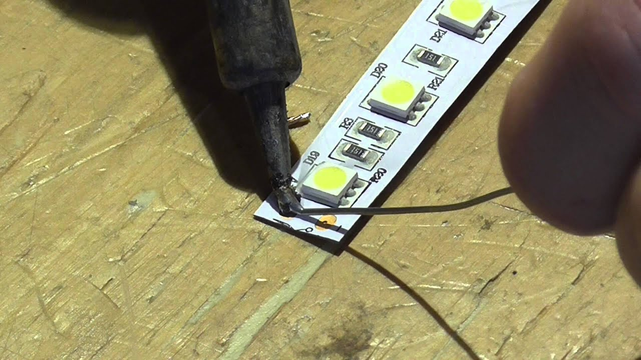 How to solder connect led strip light youtube how to solder connect led strip light aloadofball Choice Image