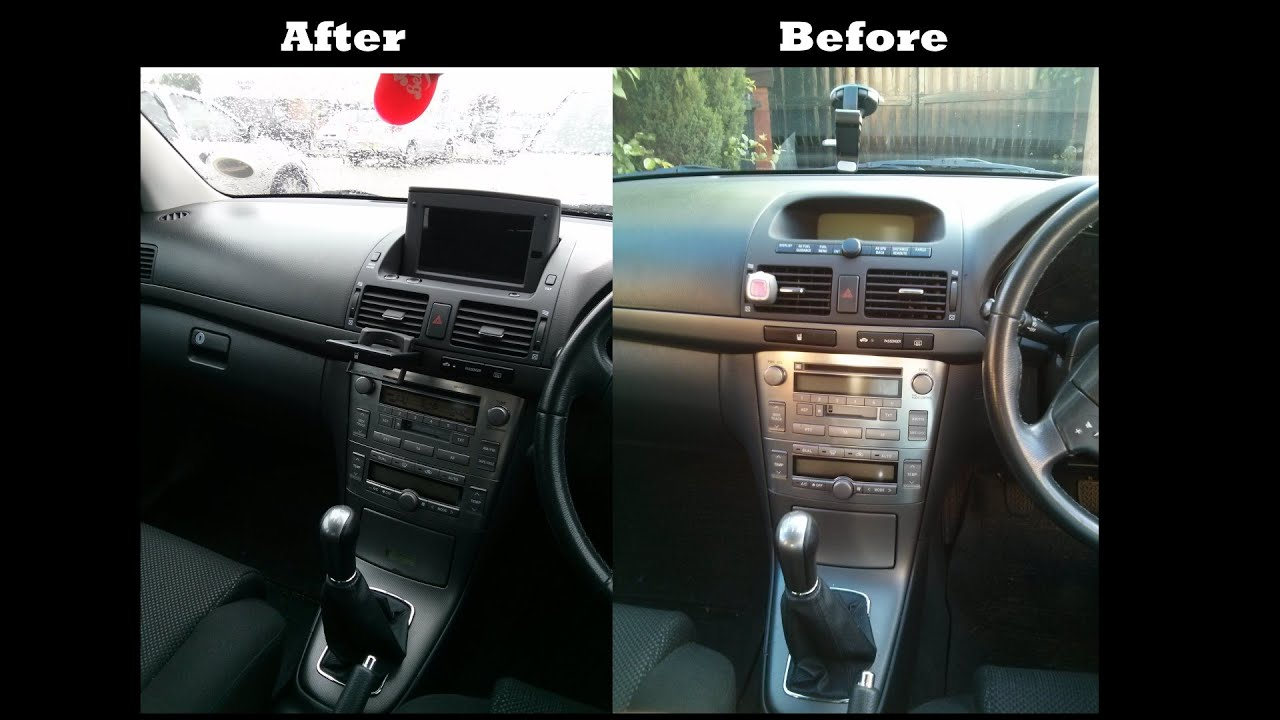 Android Tablet As A Car Stereo Gps Installed In Toyota Avensis T25 Nexus 7 Powered By Sla