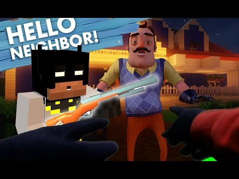 Realistic Minecraft Steve: Hello Neighbor - Stealing the ...