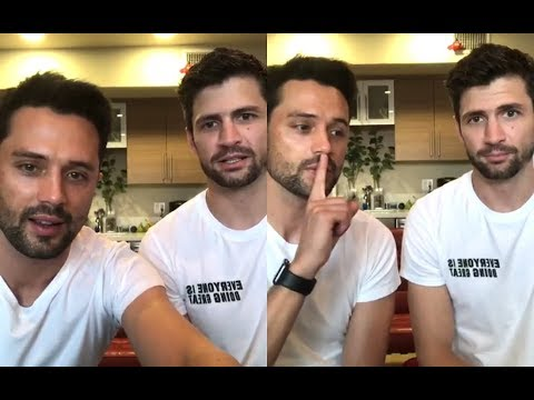 James Lafferty & Stephen Colletti from One Tree Hill  Instagram Live Stream  30 July, 2018