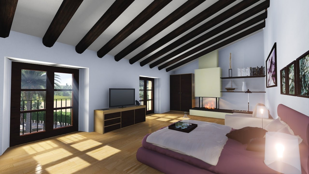 D architectural animation hotel spa restaurant ds max