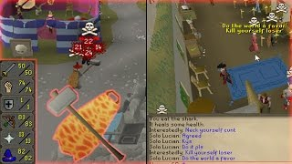 HE GOT SO ANGRY LMAO!! - 1 Hit Rushing Pure Pkers With G Maul @nishftw