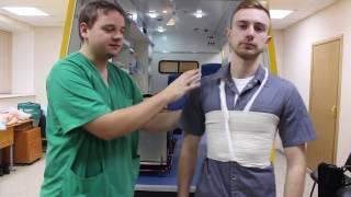 Десмургия: повязка на шею и повязка Портупея.