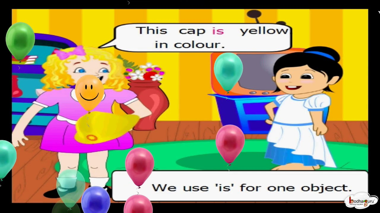 How To Use ' am, is and are ' - (Grammar for kids ) - English