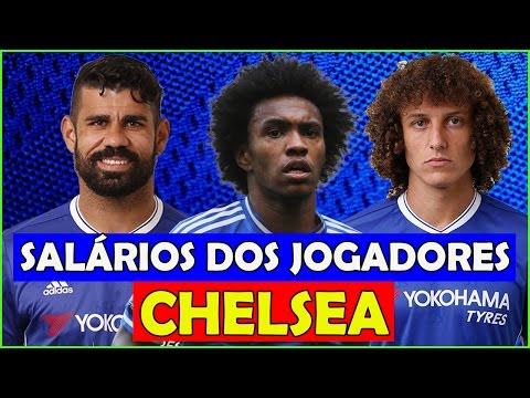💥 Os Salários dos Jogadores do Chelsea 2017