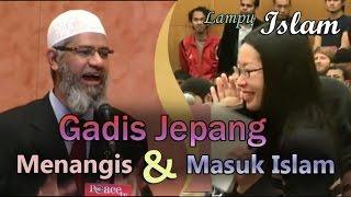 Gadis Jepang Menangis Ketika Masuk Islam di Acara Dr. Zakir Naik