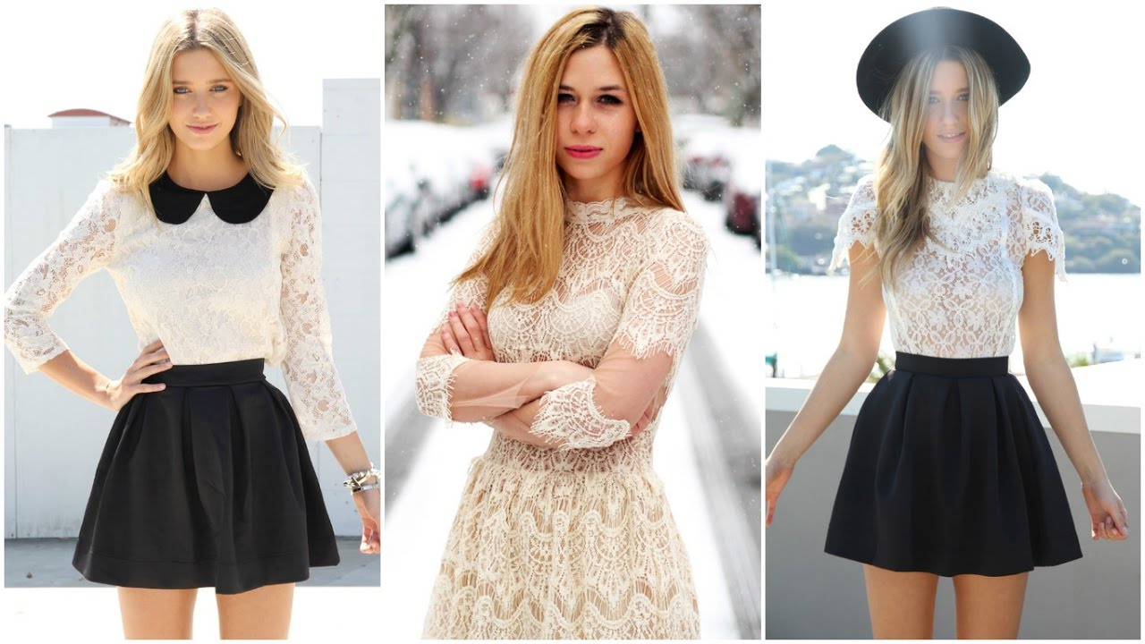 cc19febe66ad Blusas de encaje 2017 ♥ #Moda #Tendencias #Mujer
