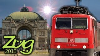 Zug2013: Nürnberg Hbf - Teil 2 mit ICE, IC, BR111, BR612, BR442 Dosto, n-Wagen u.v.m.