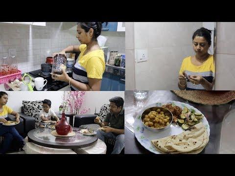 My Thursday Dinner Preparation -  Indian Everyday Dinner    Indian Vlogger Soumali
