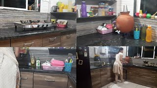 मराठी video ।Night time kitchen cleaning routine.Indian lifestyle with gauri.