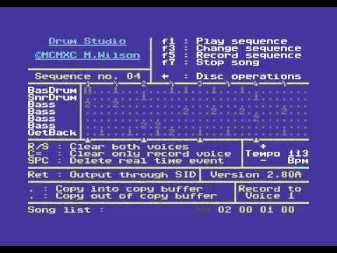 Drum Studio on Commodore 64