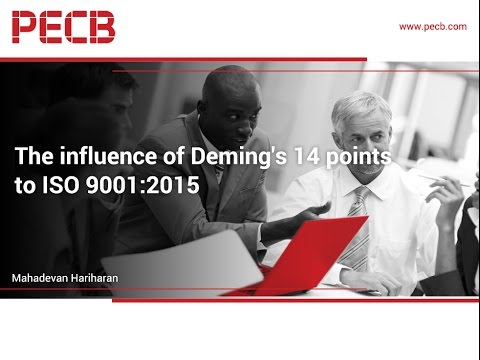 The influence of Deming's 14 points to ISO 9001:2015