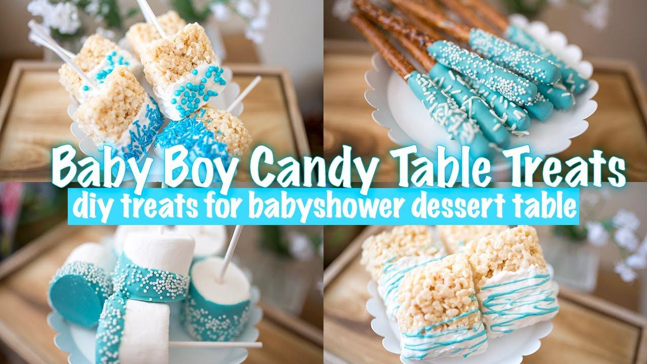 Boy Babyshower Candy Table Treats Diy Treats For A Dessert Candy Bar Youtube