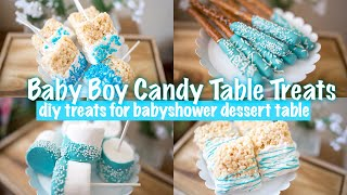 BOY BABYSHOWER CANDY TABLE TREATS | DIY TREATS FOR A DESSERT CANDY BAR