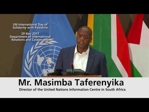 Mr. Masimba Taferenyika  Director of the United Nations Information Centre in South Africa
