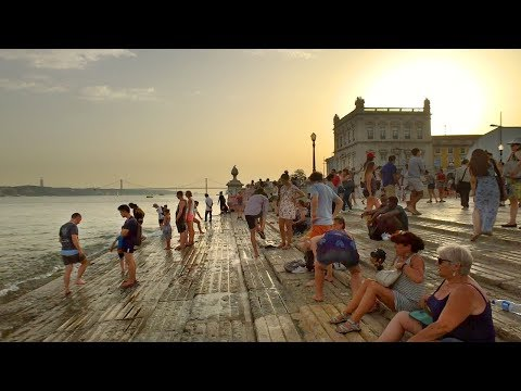 Walking Lisbon's Riverfront Promenade incl. Commerce and Rossio Squares - Portugal
