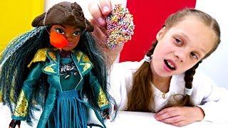 Салон красоты - Мультик с куклами. Что с лицом Умы?!