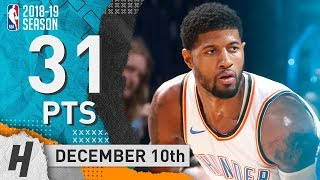 Paul George Full Highlights Thunder vs Jazz 2018.12.10 - 31 Points in 3 Qtrs!