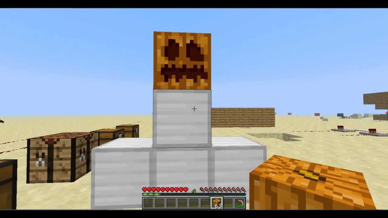 Como hacer un golem de hierro - Minecraft- Tutorial - YouTube