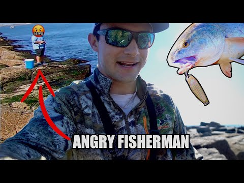 Harassed By ANGRY Fisherman While Catching GIANT Fish