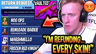 Tfue *OFFICIALLY* Announces He's *REFUNDING* ALL OF HIS SKINS Until Epic VAULTS The INFANTRY RIFLE!