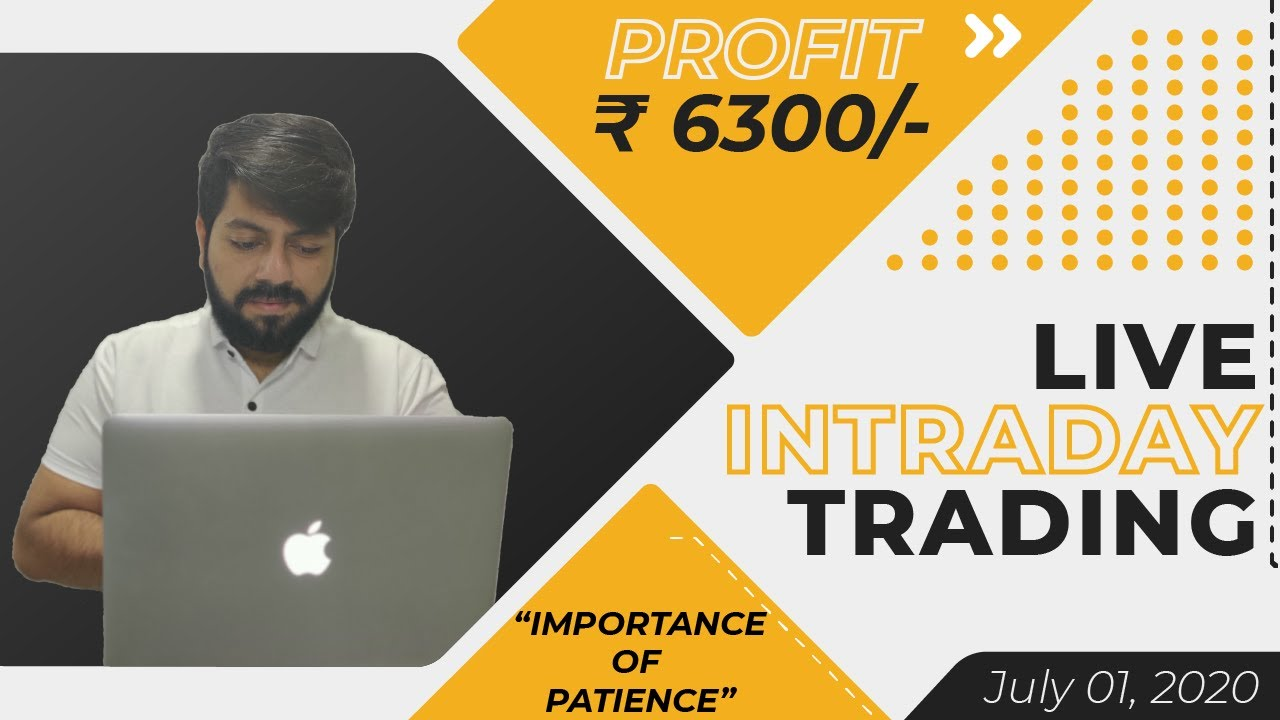 Live Intraday Price Action Trading || VP Financials || 01 JULY 2020