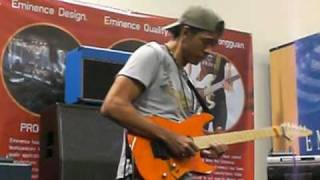 "Greg Howe NAMM video #1 ""Kick It All Over"""