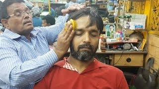 ASMR Sarwan barber Comb Head Massage | Travel Series 2018 Video 01