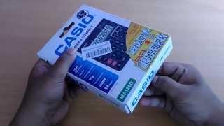 Unpacking Casio MJ-120D Calculator