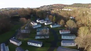Riverside Rothbury Caravan Park In Northumberland Aerial Video