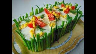 Салат торт з печінки та хліба / Салат торт из печени и хлеба