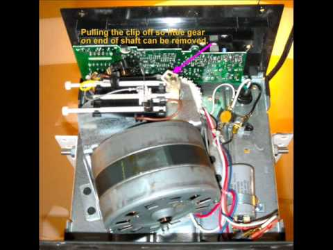 Garage Door Wiring Diagram 2004 Dodge Durango Radio Repair Sears Craftsman Liftmaster Opener, Gear Replacement - Youtube