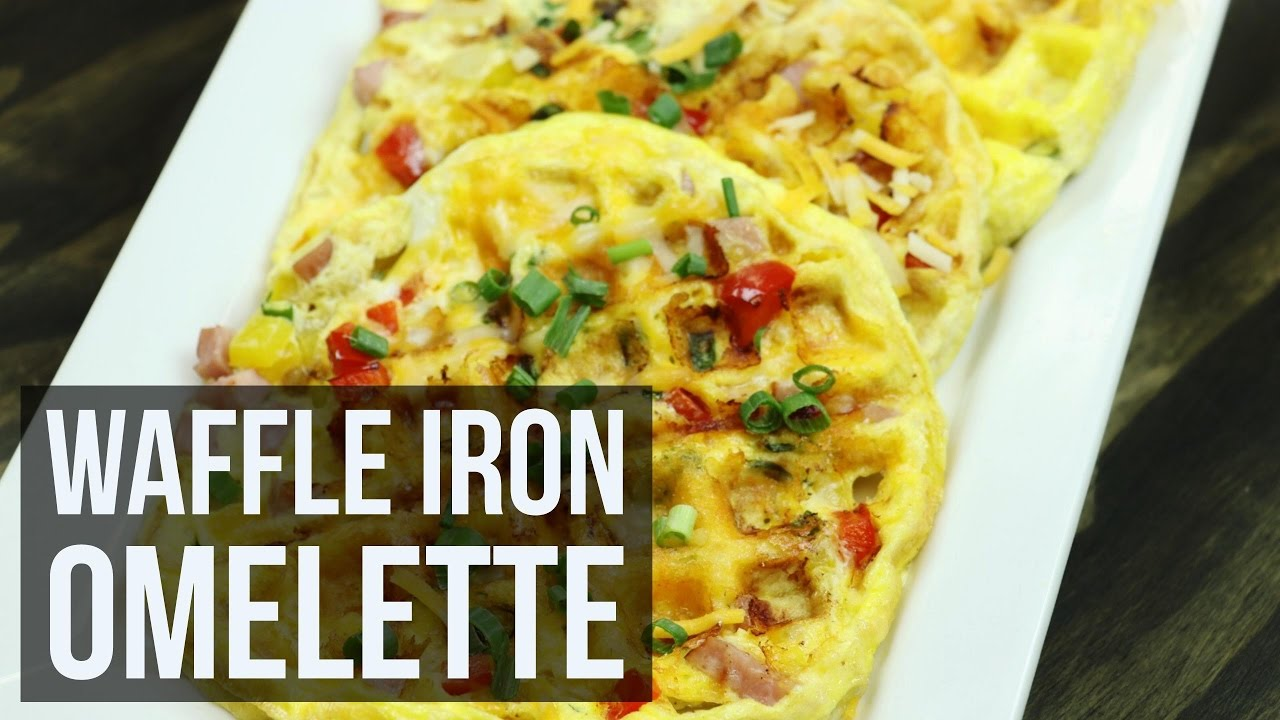 No Fuss Waffle Iron Omelette Leftover Ham Breakfast Recipe By