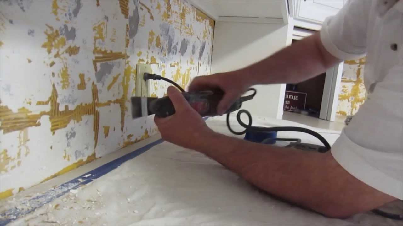 How to install glass mosaic tile backsplash part 1 for Removing backsplash tile from sheetrock